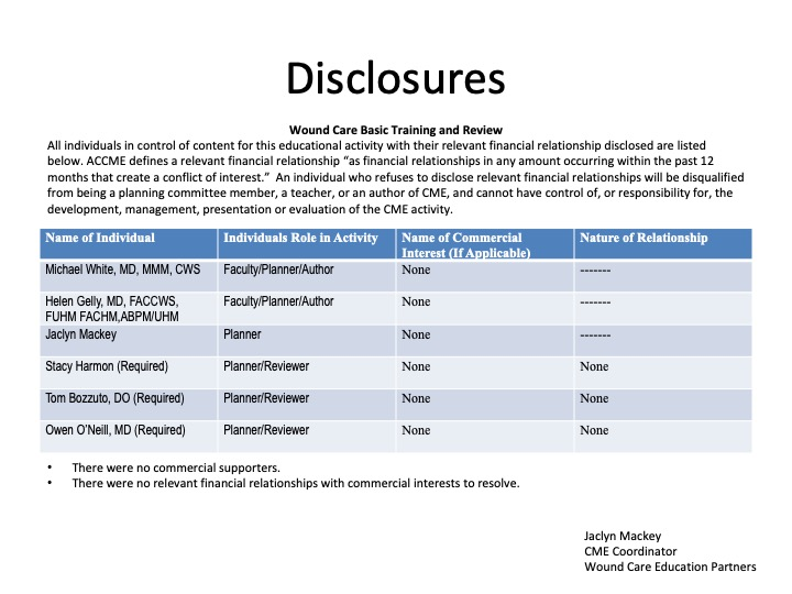 WCR General Disclosure to Participants
